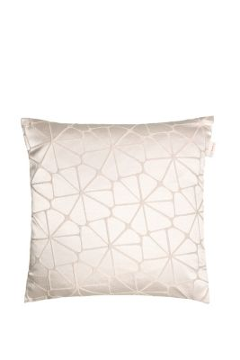 Cushion cover with a graphic woven pattern