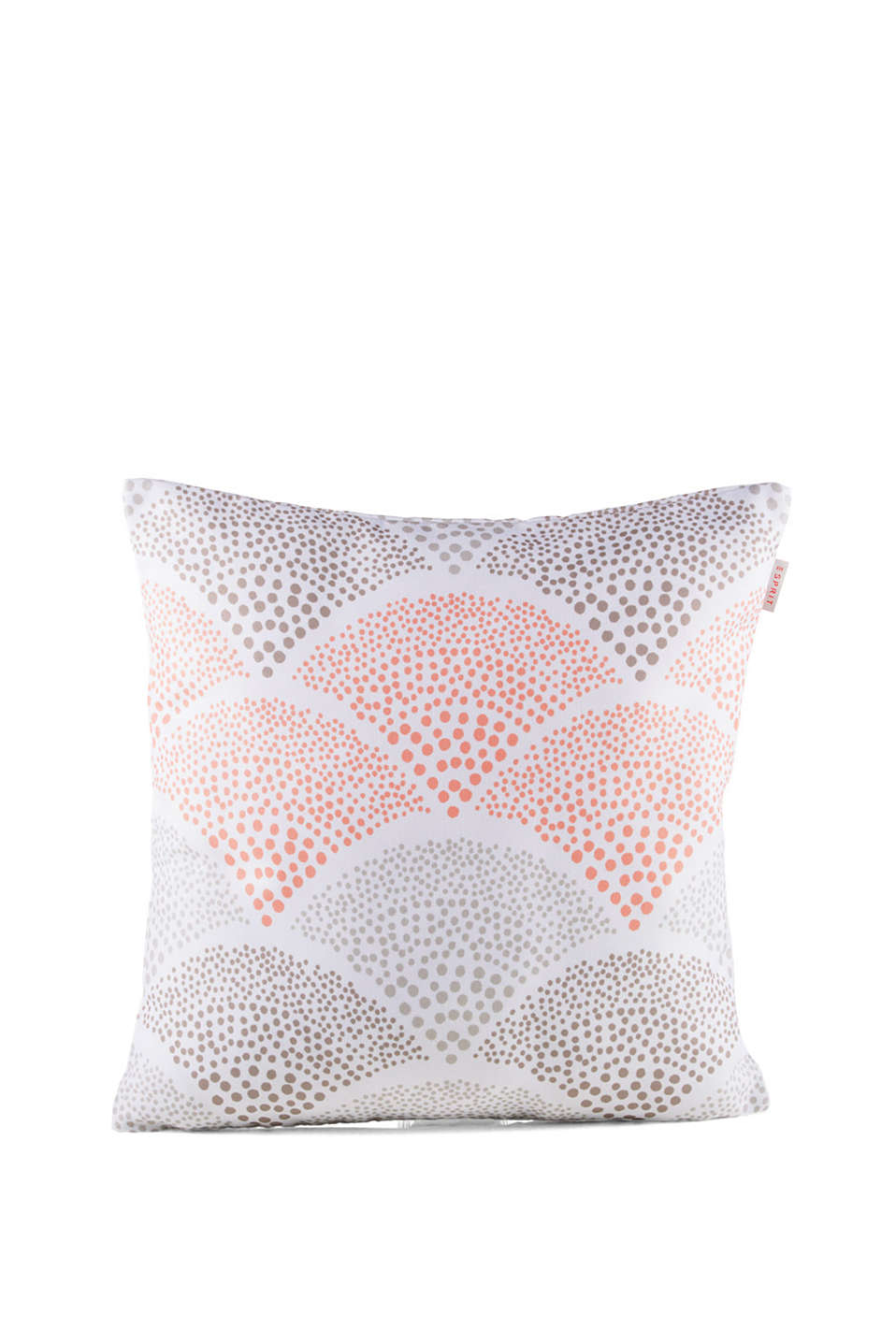 Cushion cover with a high-quality digital print of a polka dot pattern
