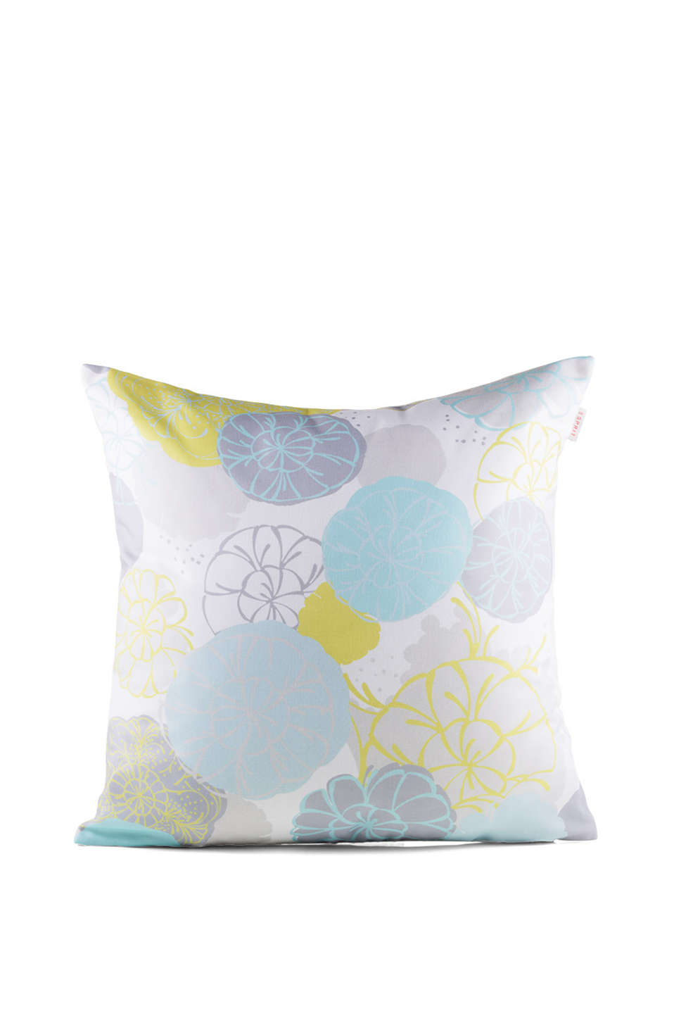 Blended cotton cushion cover with a floral pattern (45 x 45 cm)
