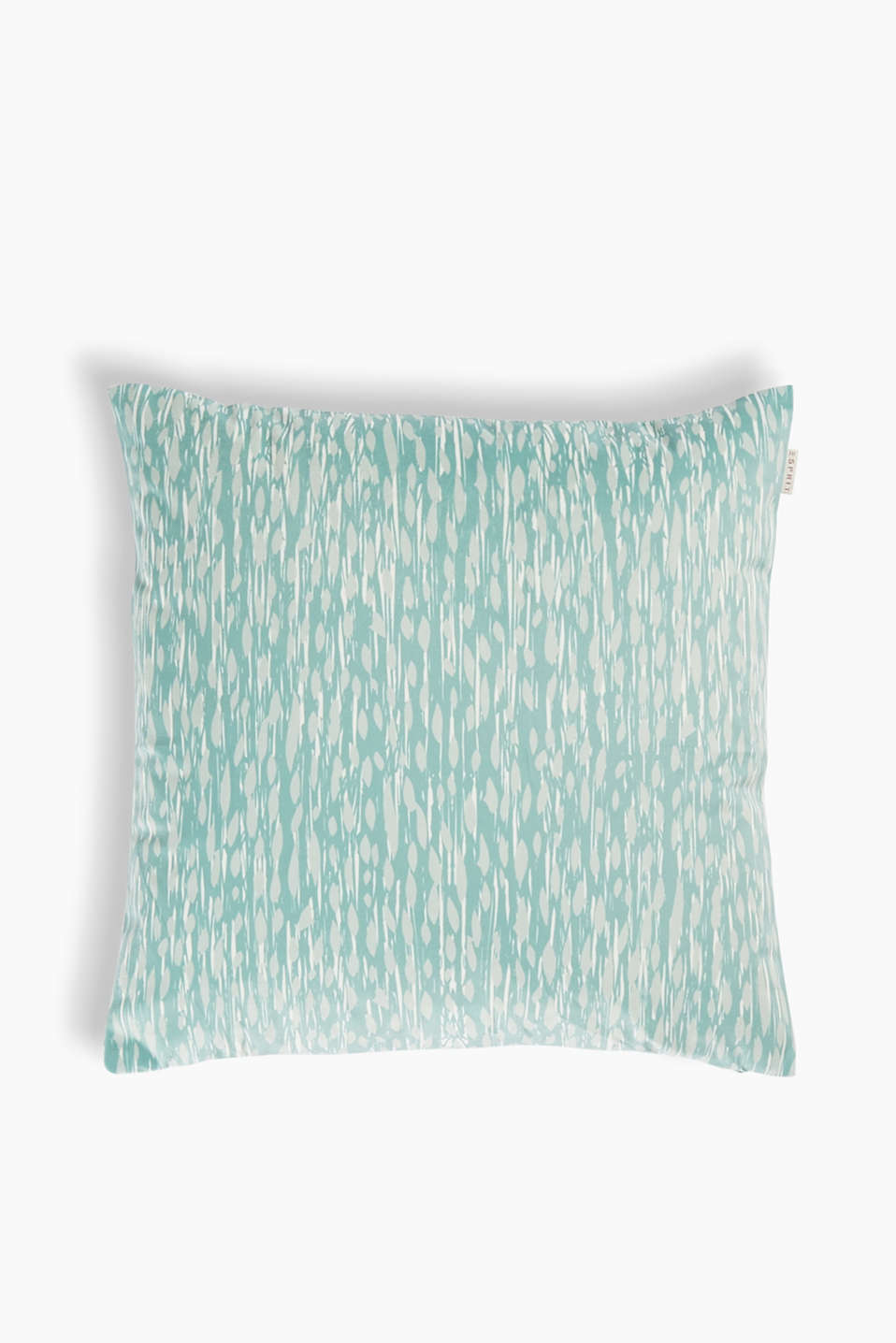 With a modern pattern: cushion cover with a digital print, made of premium micro velvet