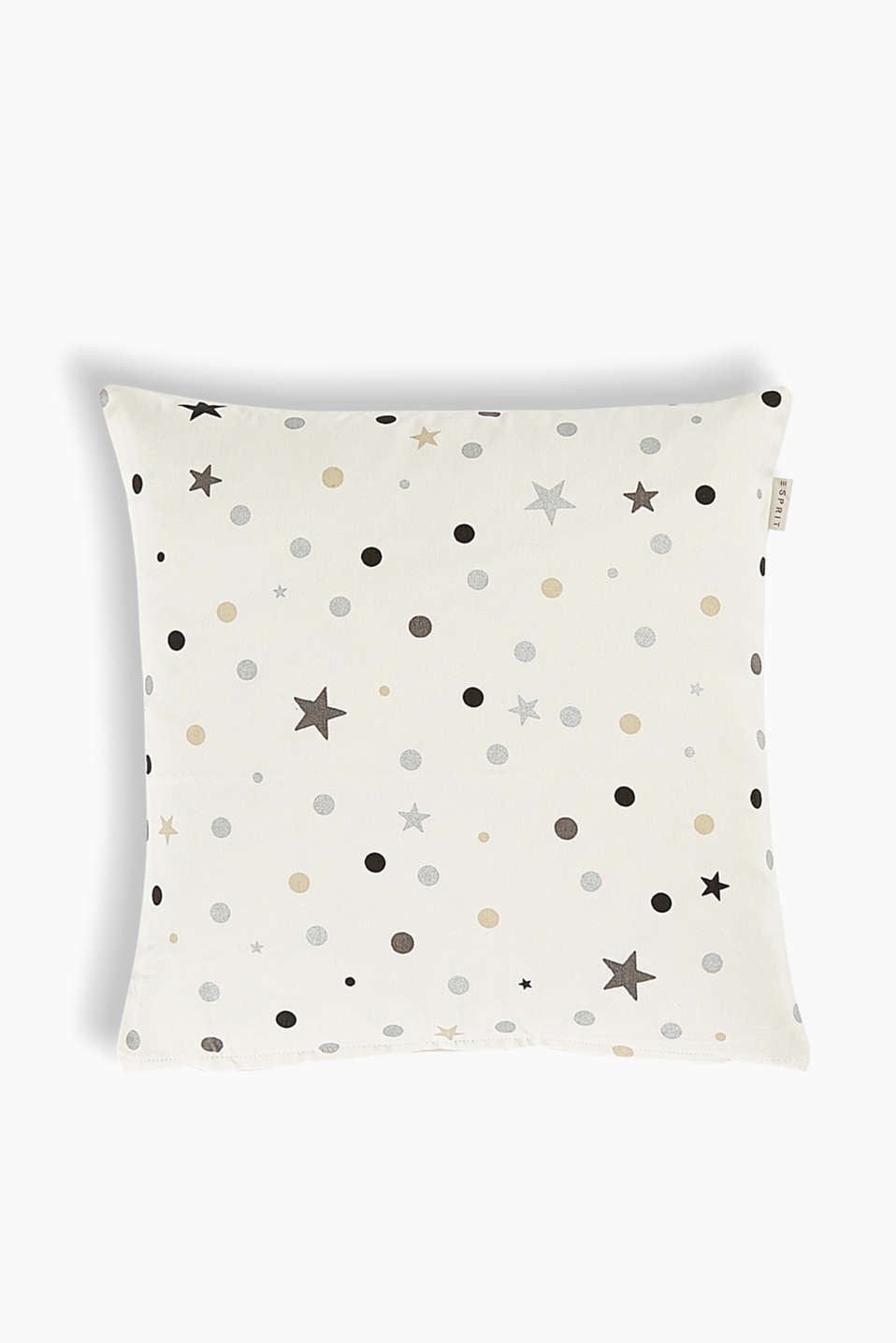 A stylish head-turner in your home décor thanks to the metallic stars and polka dots.