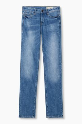 pale stretch jeans in a five-pocket design