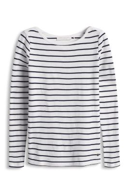 Soft long-sleeved top in 100% cotton