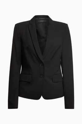 Basic Business-Blazer mit Stretch