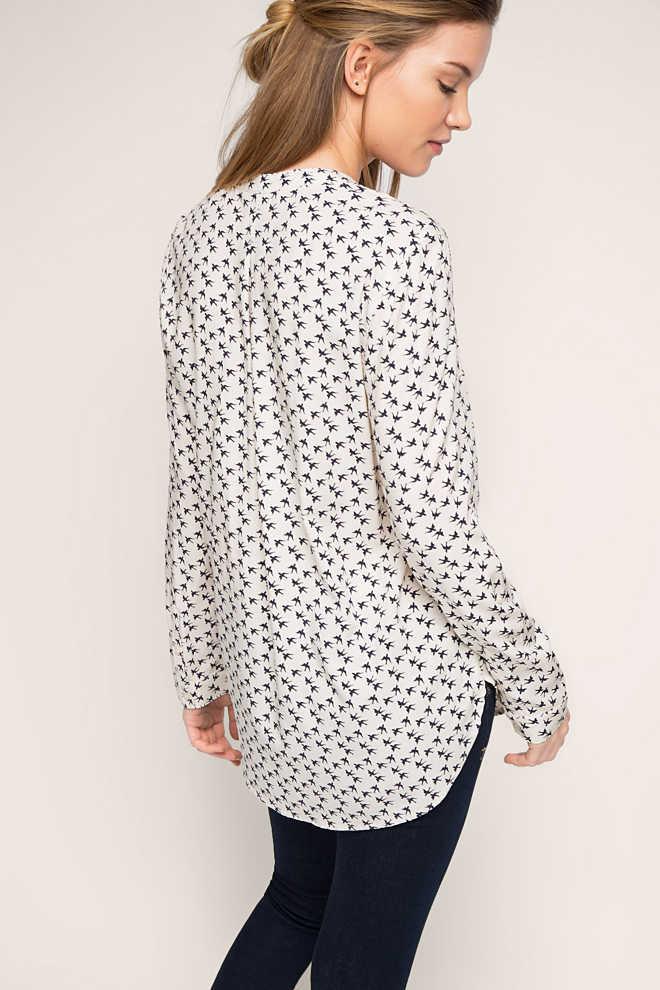 bluse mit schwalben print