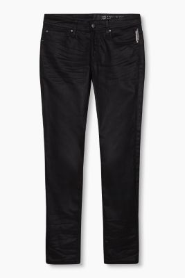 Coated stretch jeans