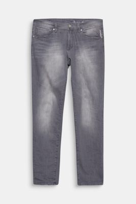 Graue Jeans aus Stretch-Denim