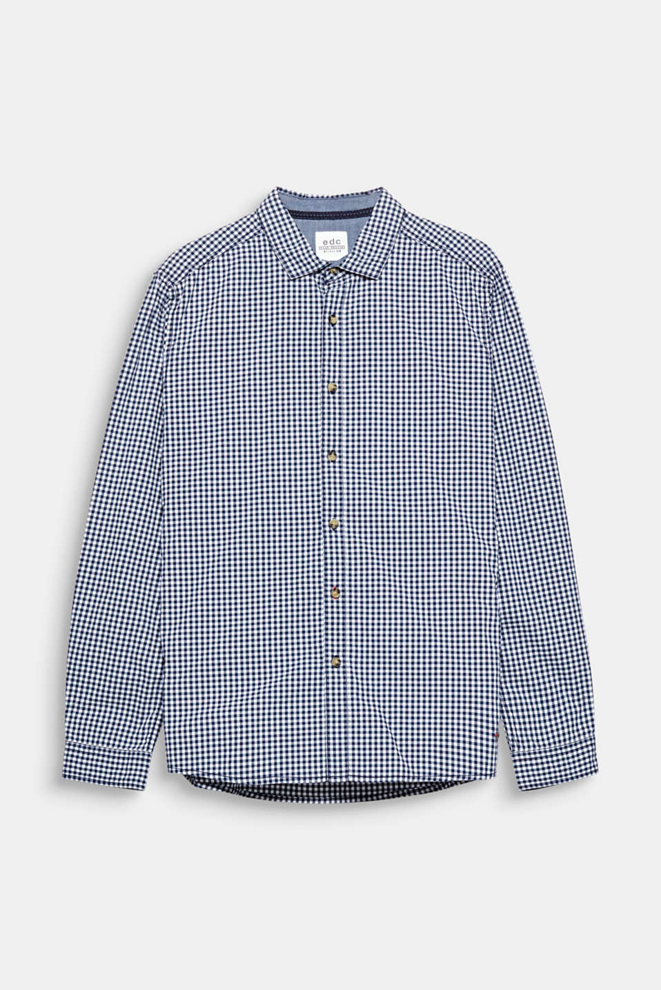 Basic shirt in premium cotton with small checks