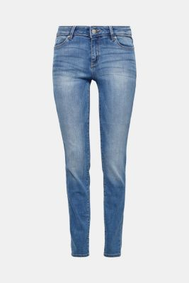 Schmale Stretch-Denim im Basic-Look