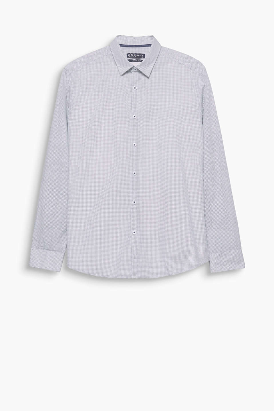 Basic cotton shirt with an all-over print