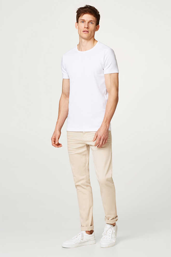 Esprit / Basic ribbed T-shirt, 100% cotton