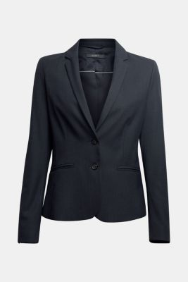 Business blazer with horn buttons