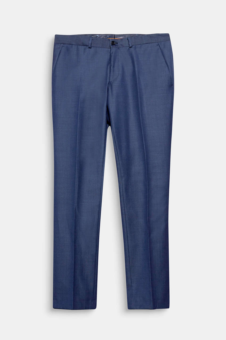 With pinstripes: suit trousers made of a high-quality, new wool blend