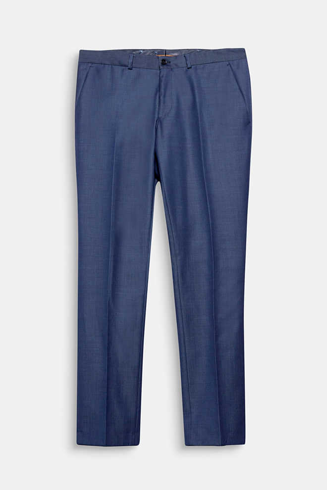 Esprit / Striped suit trousers in a new wool blend
