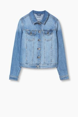 Distressed Jeans-Jacke mit Stretch