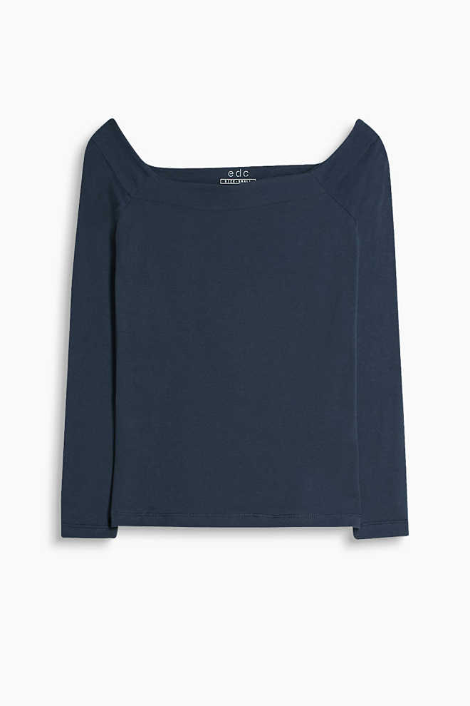 EDC / Stretch cotton long sleeve tee