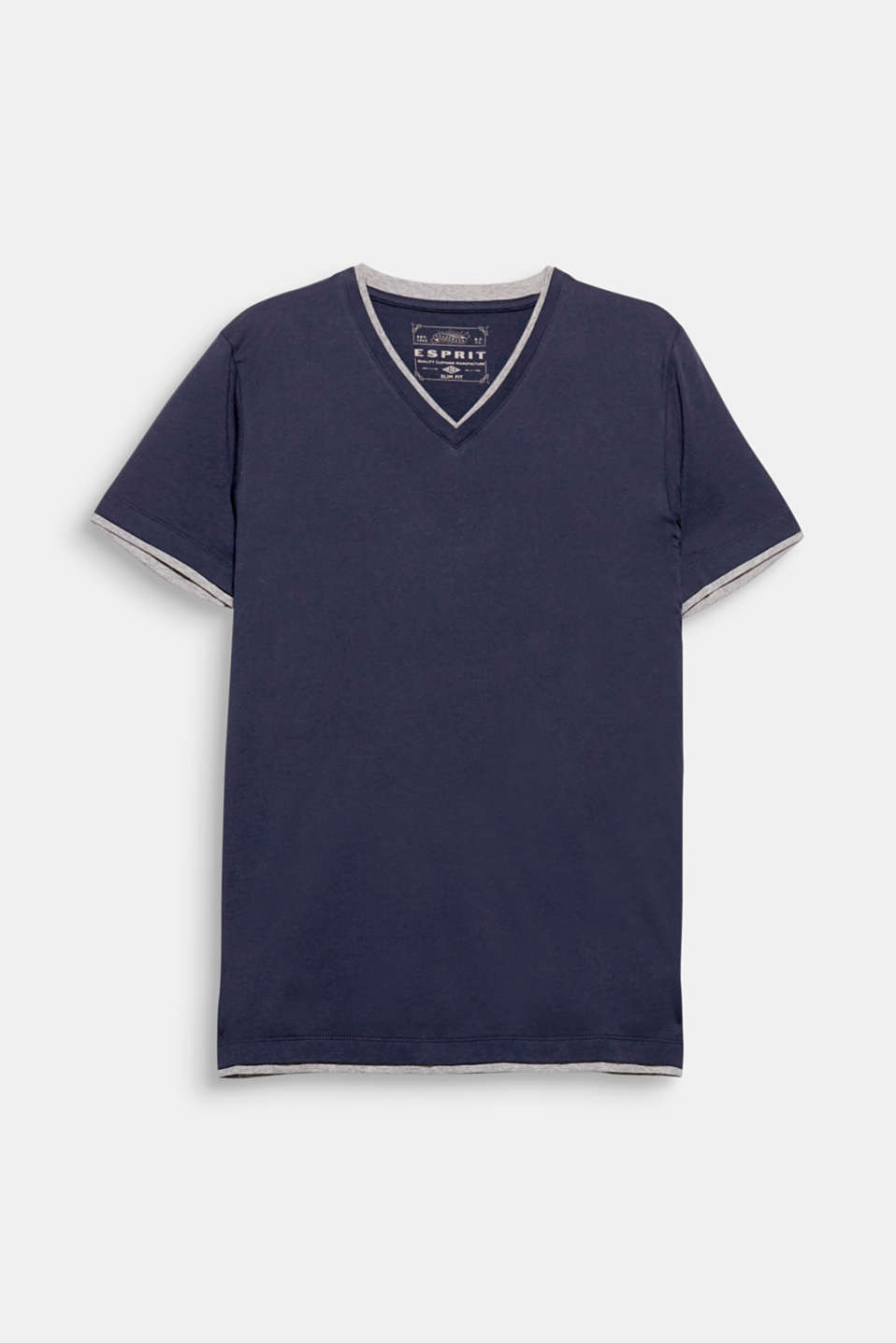 T-shirt in soft blended cotton with a V-neck