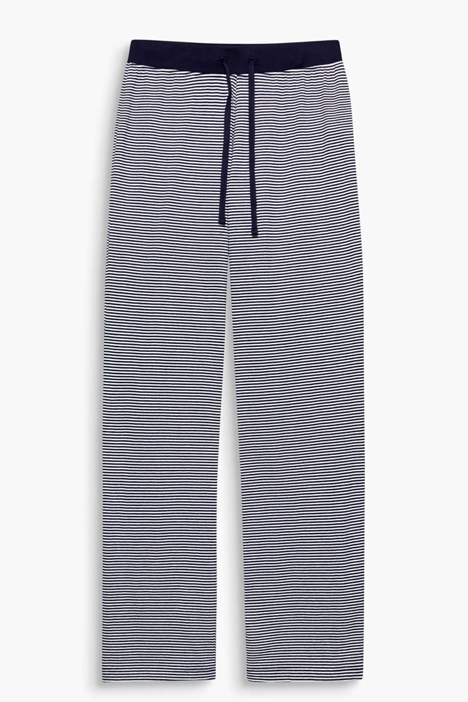 Soft jersey, cheerful stripes – these trousers have everything you need to feel good!