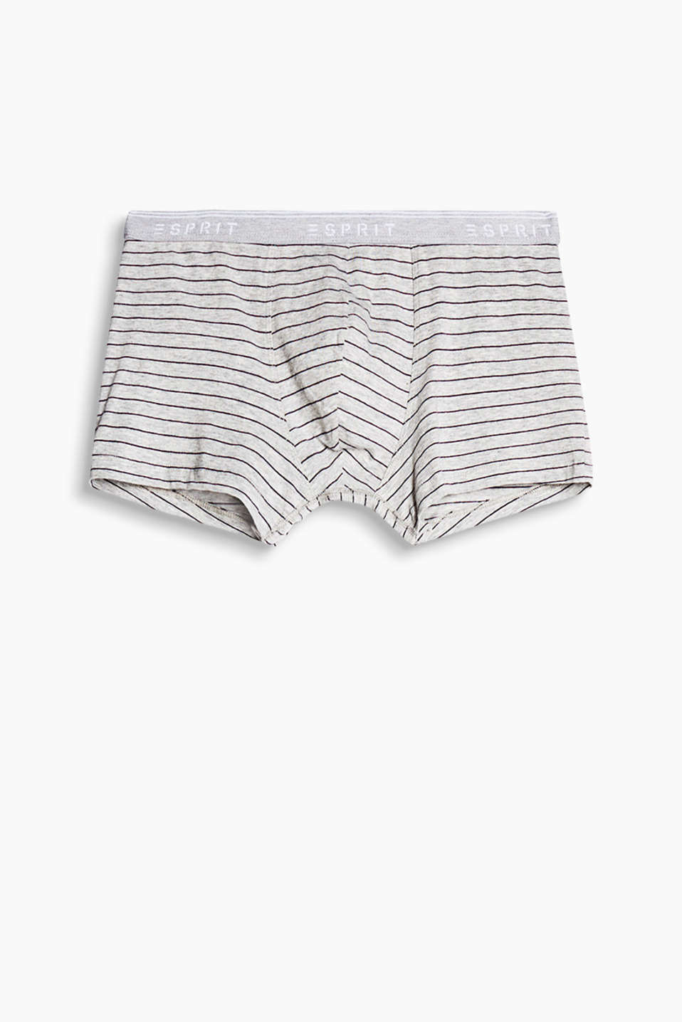 These hipster shorts in stretch cotton with a logo elasticated waistband are super comfortable and have sporty stripes!