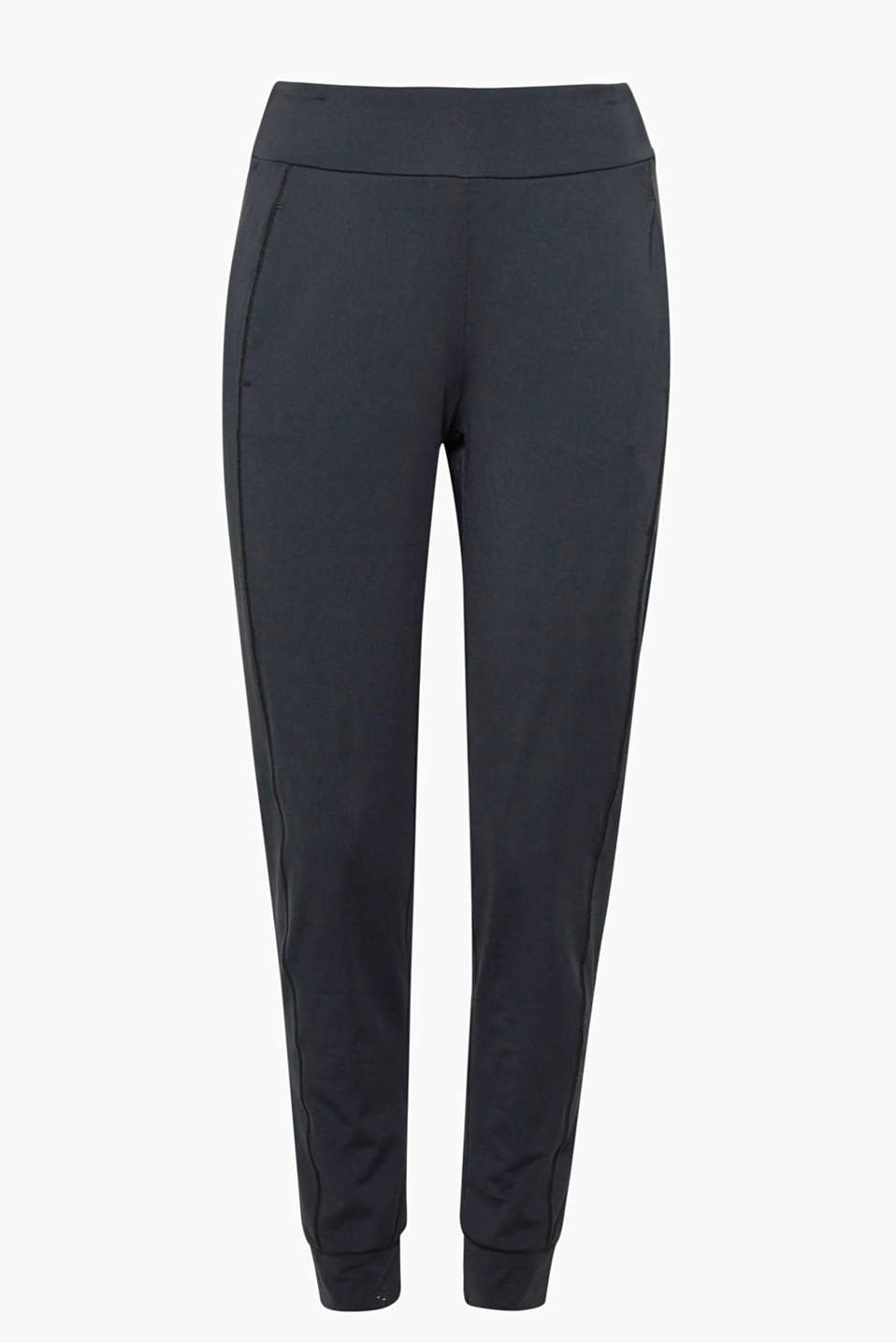 These casual, active tracksuit bottoms with hem borders and E-DRY technology are mega comfy and highly functional!