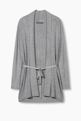 Ripp-Cardigan mit Stretch