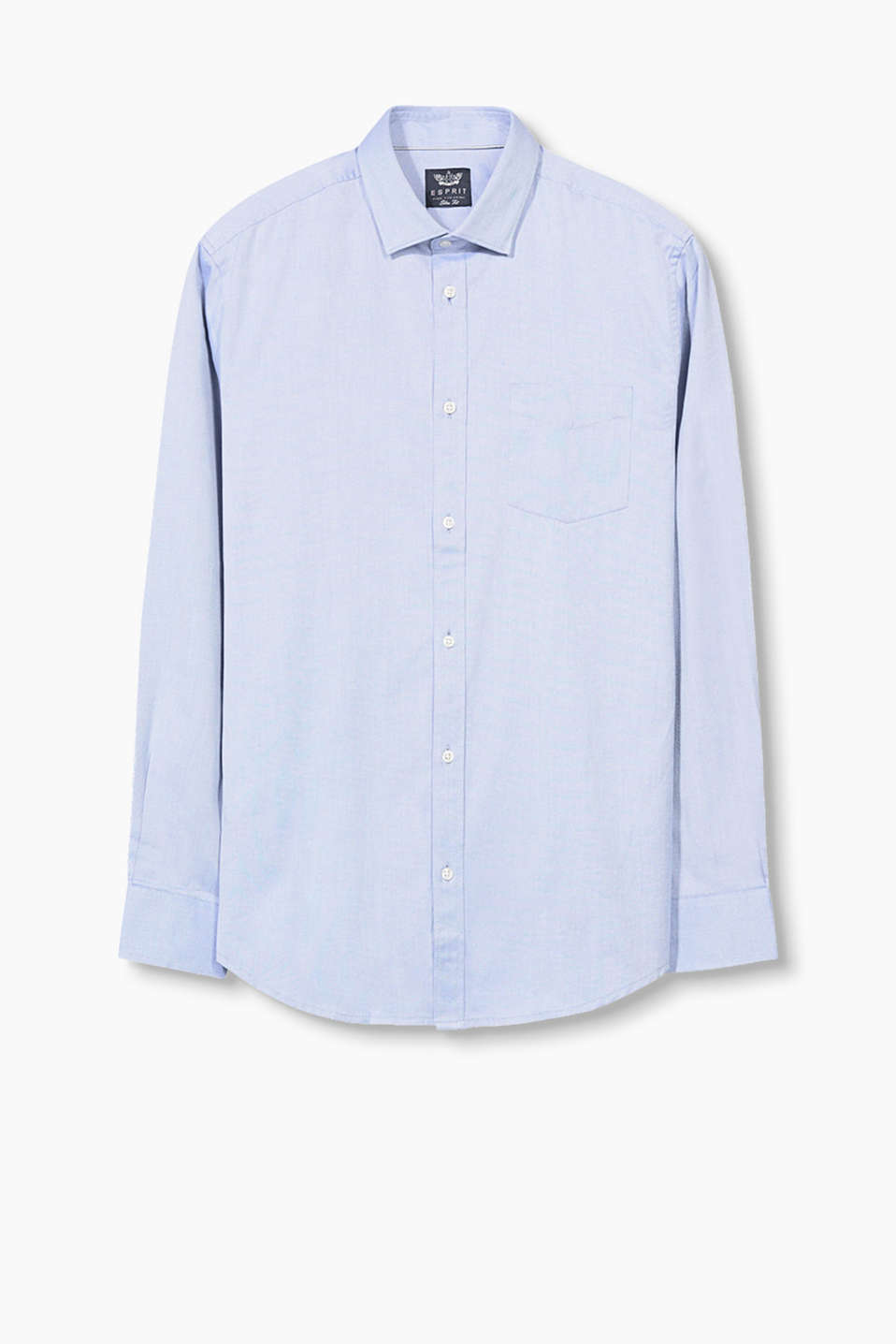 Textured easy-iron shirt made from pure cotton
