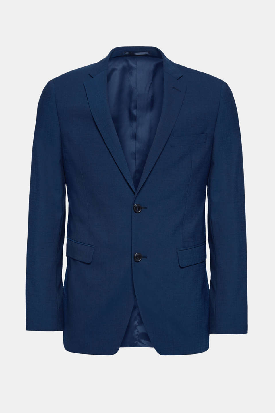 Premium blazer in a finely patterned blended wool fabric