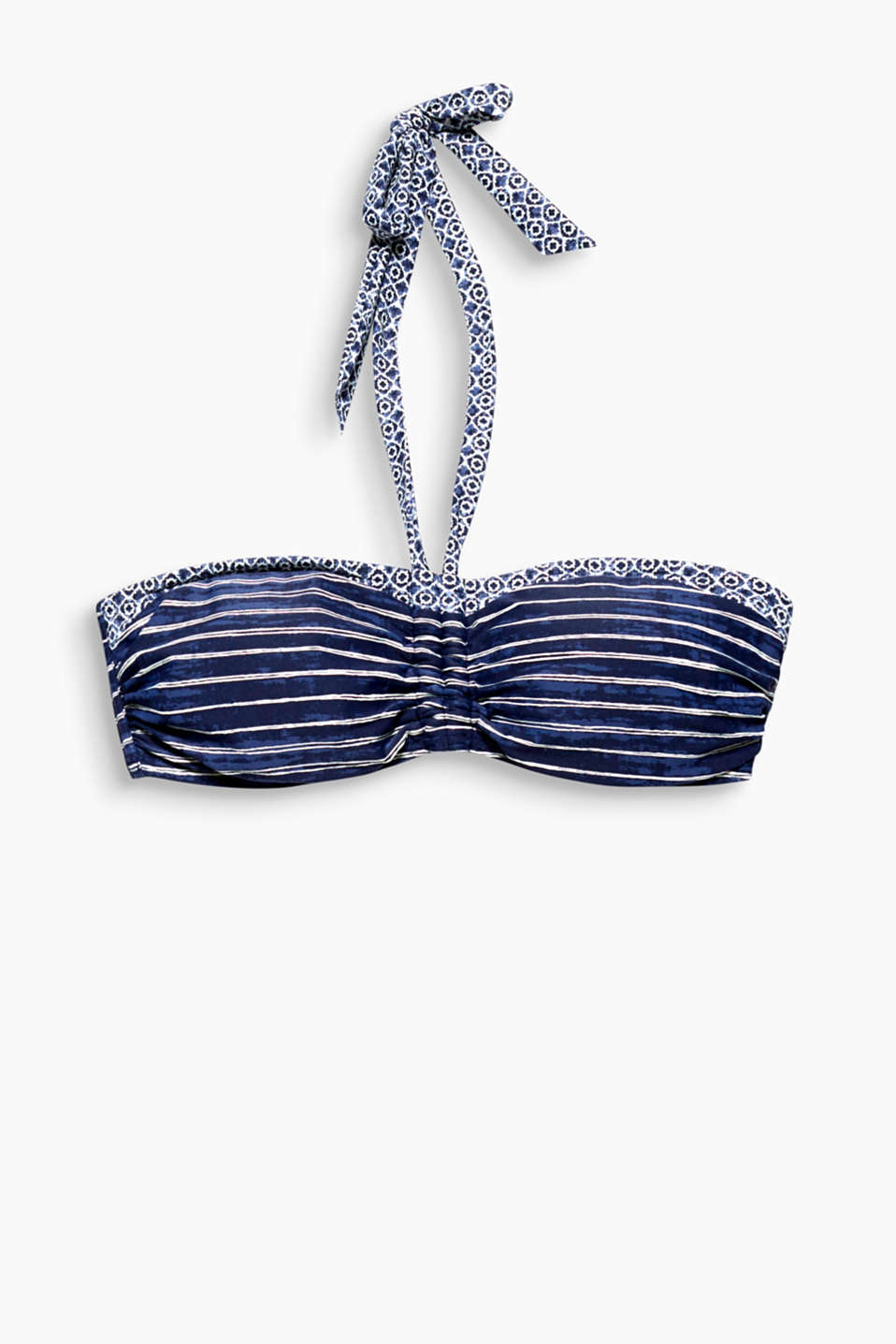 Collection DONNA - graphic or striped - no need to dither because this padded bandeau bikini top has both