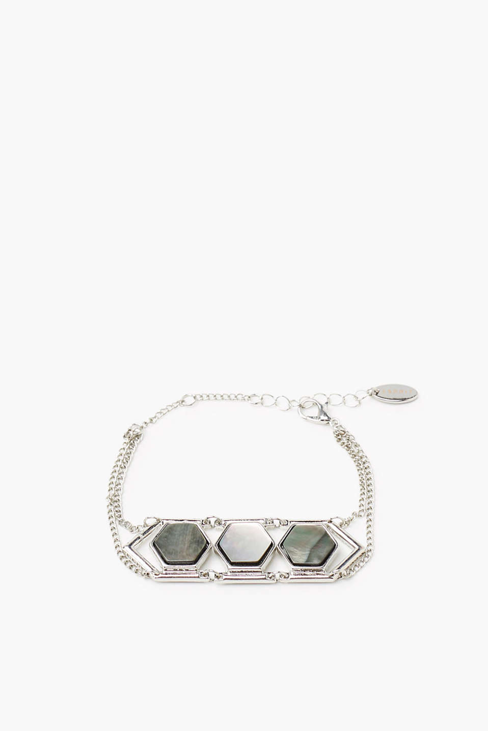 Bracelet made of a high-quality metal alloy in two widths