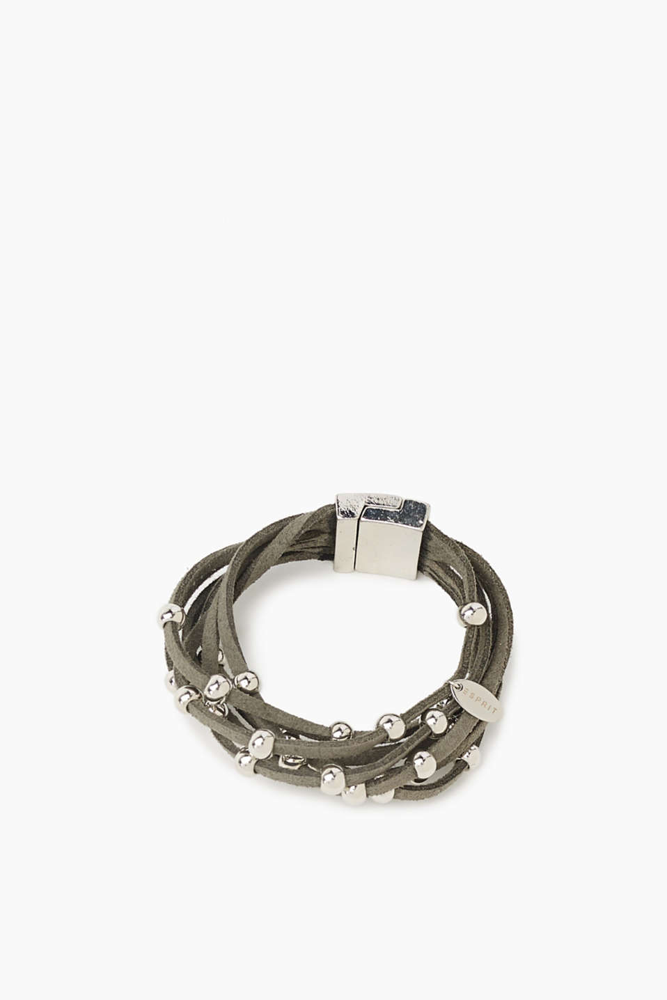 With its shiny metal beads combined with dainty ties made of faux suede, this bracelet is a beautiful piece of jewellery!