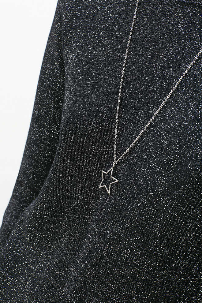 Esprit / Necklace with star, rhinestones and pearls