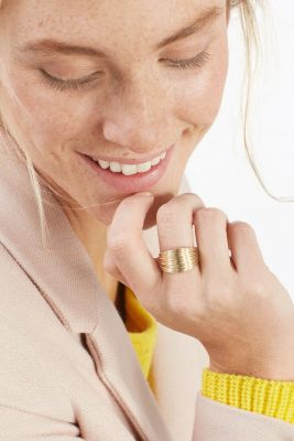 Statement-Ring aus Metall