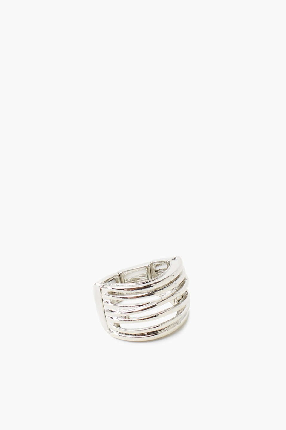 One size wide stretch ring in a minimal design