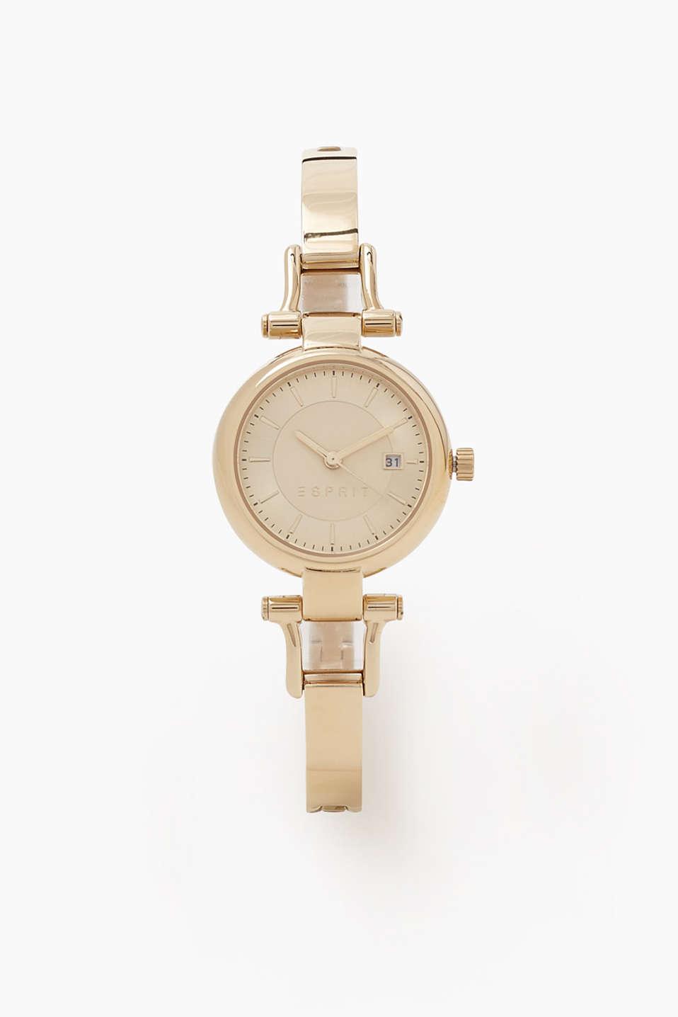 esprit armbanduhr in gold ton im online shop kaufen. Black Bedroom Furniture Sets. Home Design Ideas