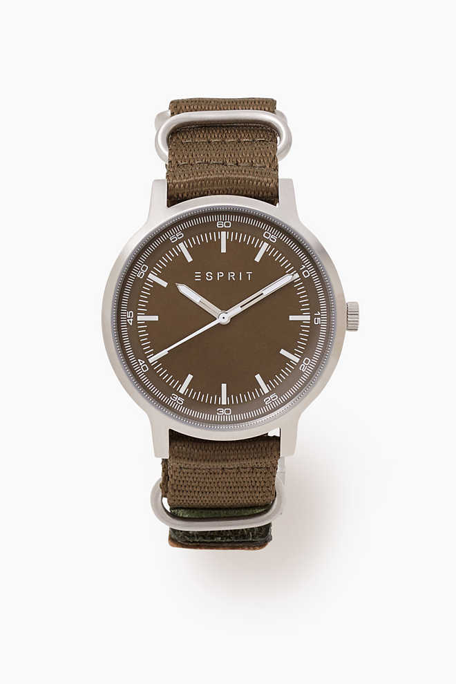 esprit edelstahl uhr mit klett armband im online shop kaufen. Black Bedroom Furniture Sets. Home Design Ideas