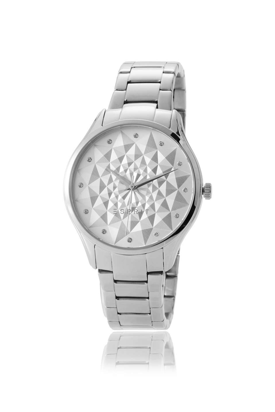 Polished stainless-steel casing and strap, graphically textured and zirconia-trimmed dial, Ø approx. 36 mm