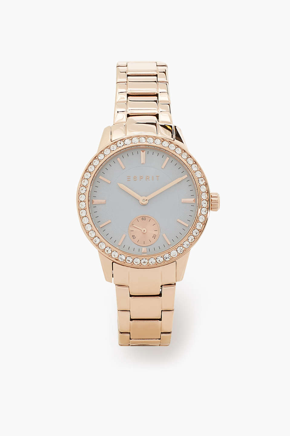 We love rose gold! Stainless steel watch with a link strap