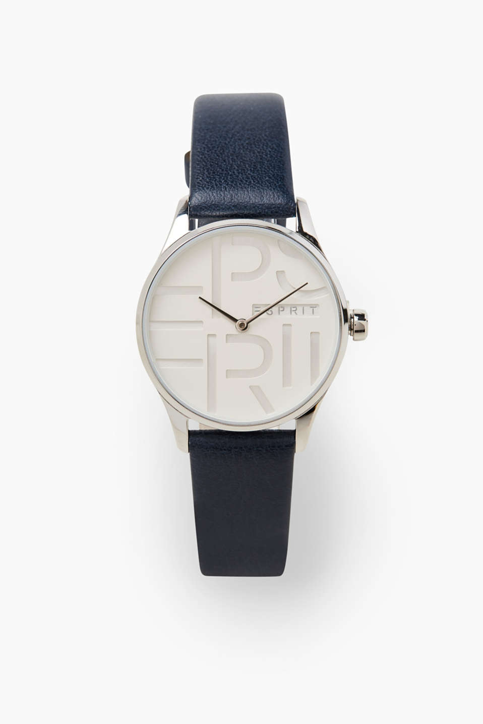 Minimalist and with fine details! The three-dimensional dial with a logo is one of these fine details.