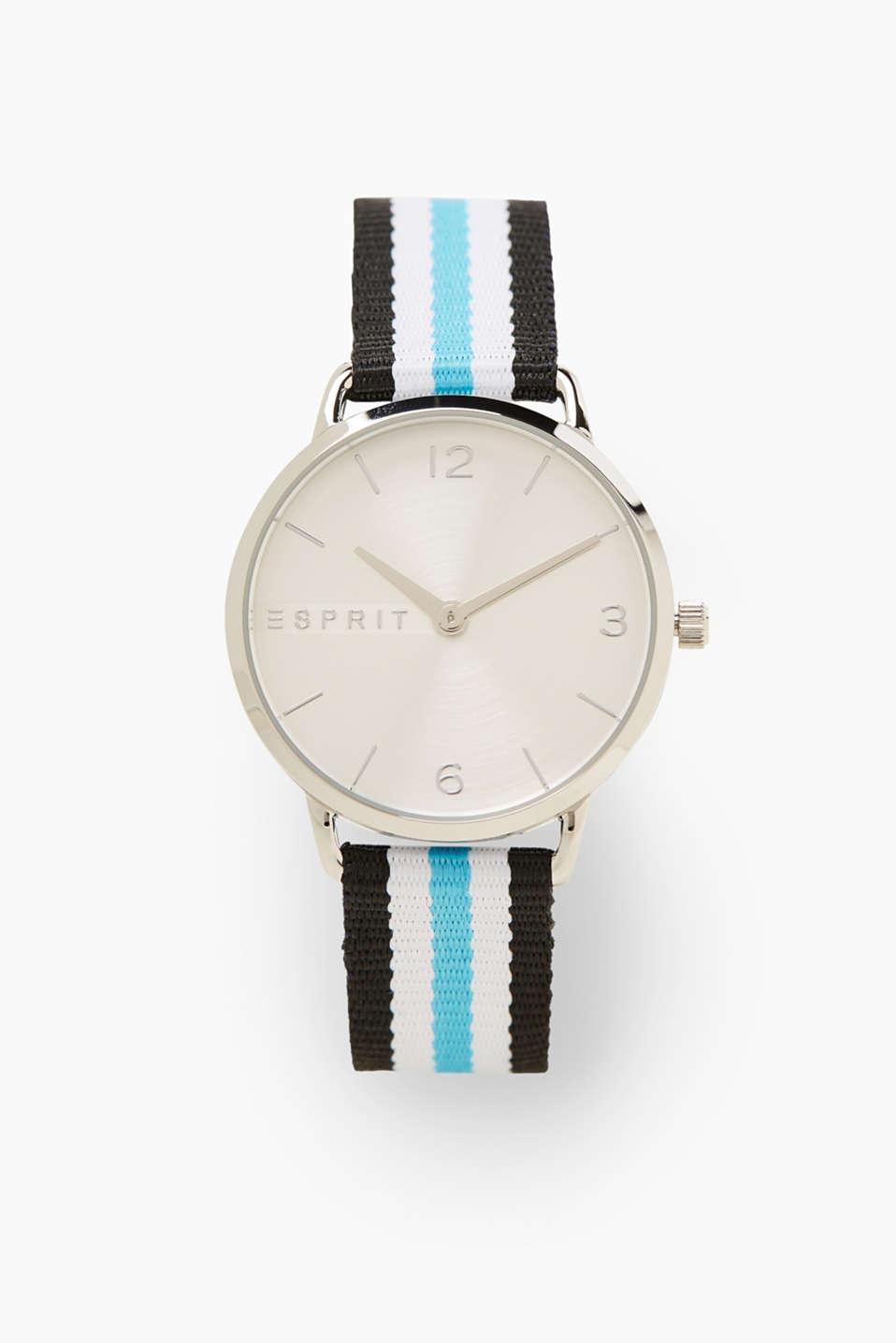 esprit leichte edelstahluhr mit streifen armband im. Black Bedroom Furniture Sets. Home Design Ideas