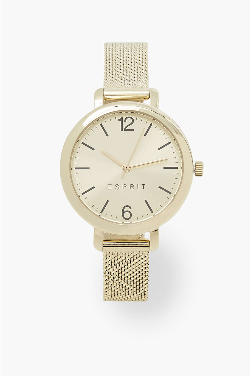 Watch in an elegant gold tone and a timeless minimalist design