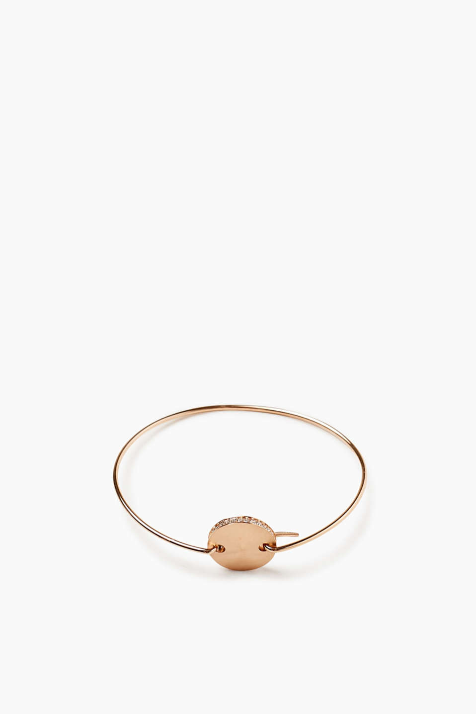We love rose gold! This bracelet is very stylish thanks to its zirconia-set pendant.
