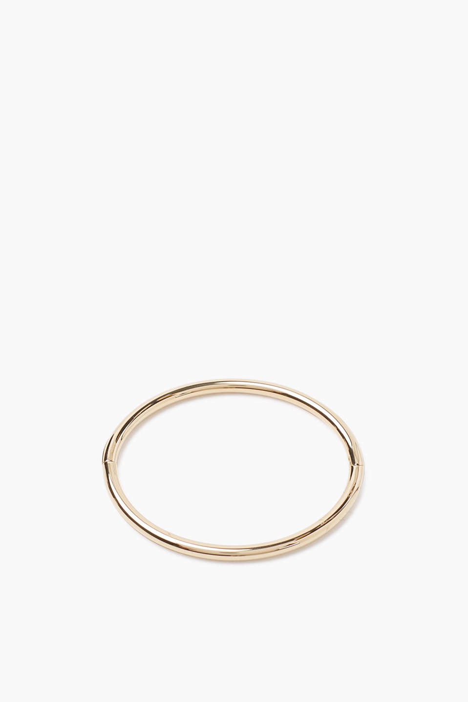 Bangle in a high-quality metal alloy with a hinge and a practical clip fastener