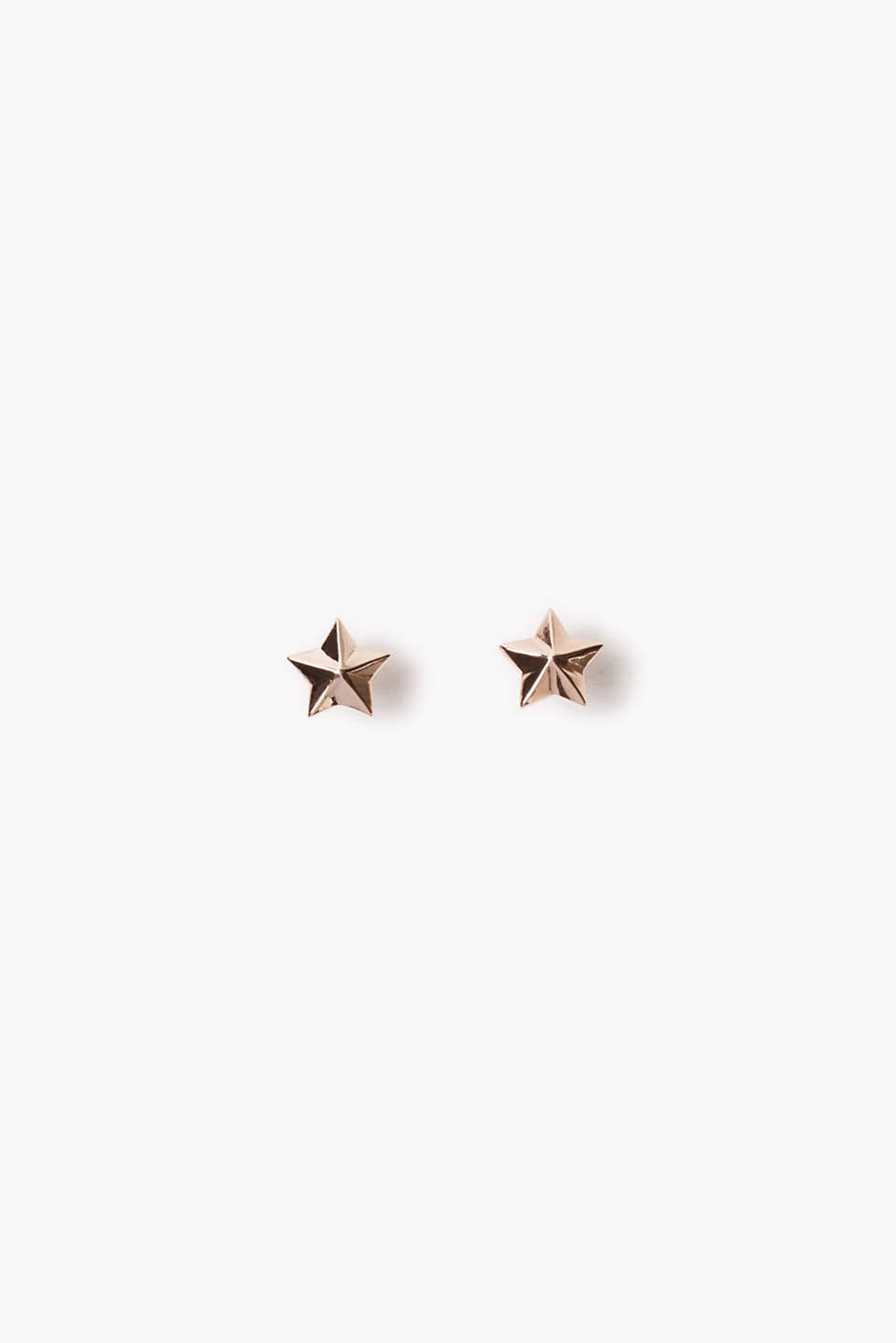 Stud earrings with small stars, diameter approx. 8 mm