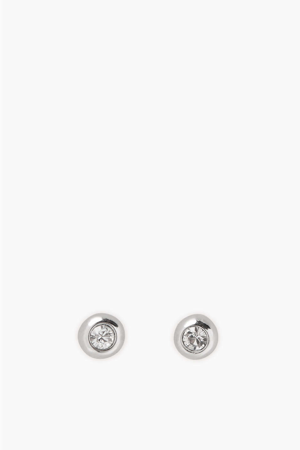 Pure elegance: classic stud earrings with zirconia stones, made of sterling silver