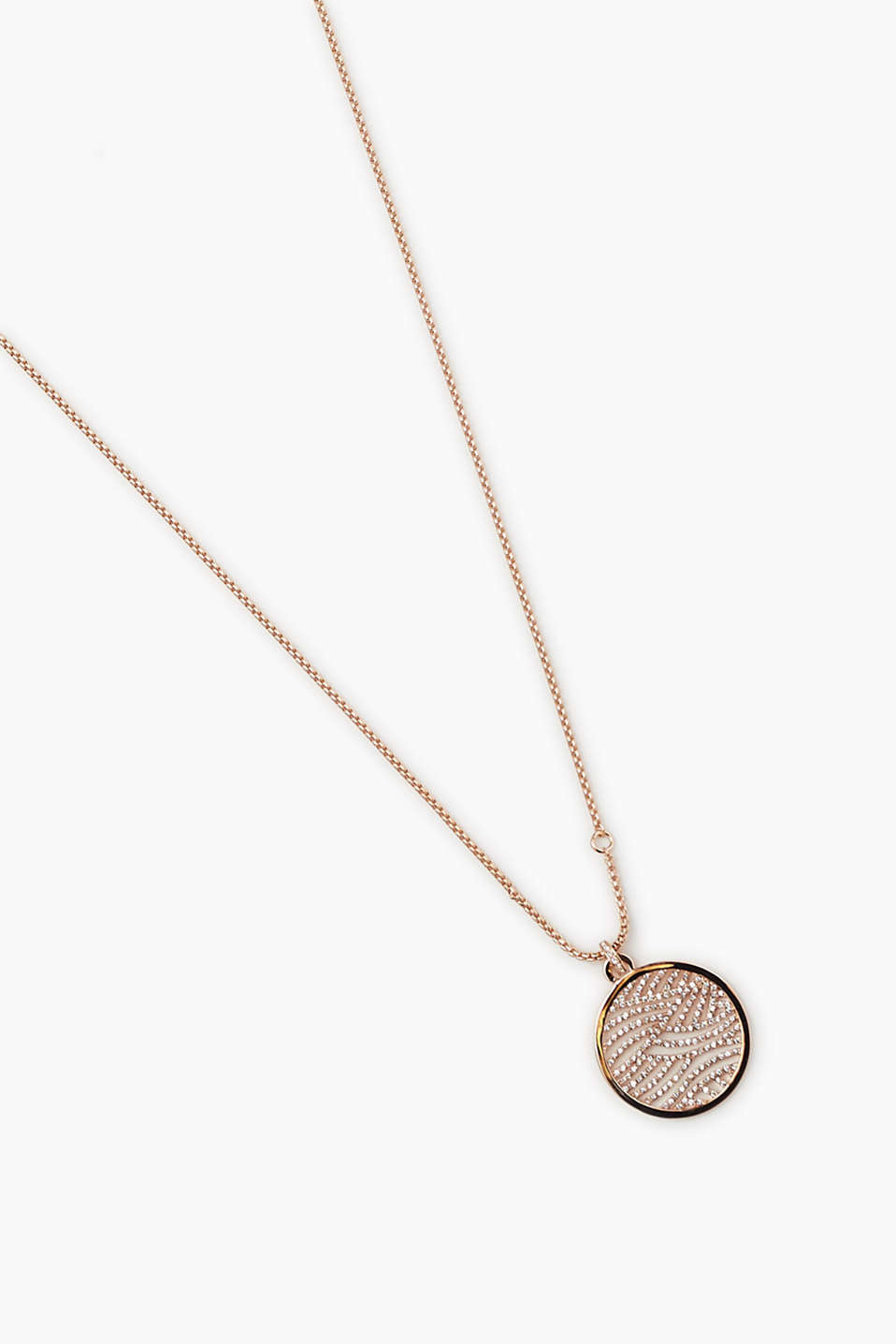 We love rose gold! Length-adjustable curb chain with pendant