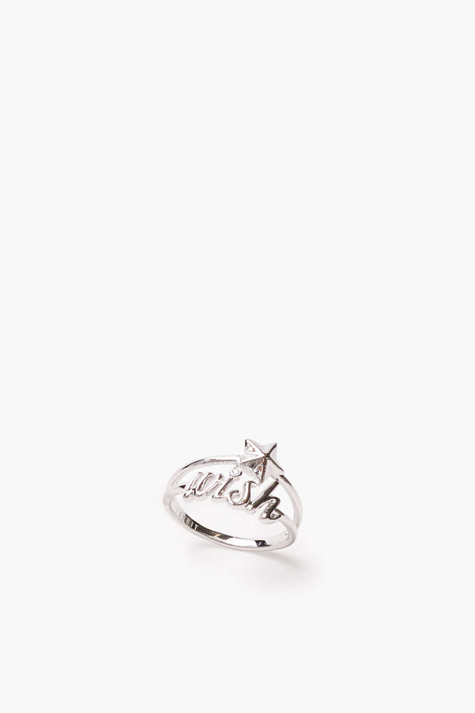 High-quality ring with wish in writing plus a star, width approx. 13 mm