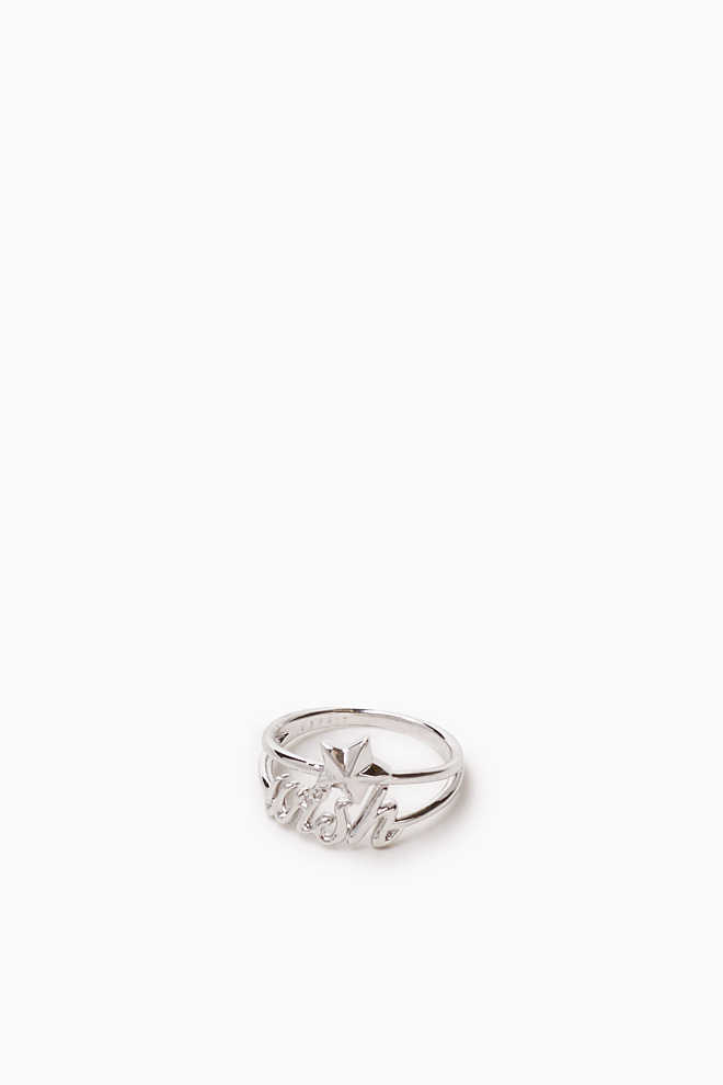 Esprit / Doubled metal ring with wish + star