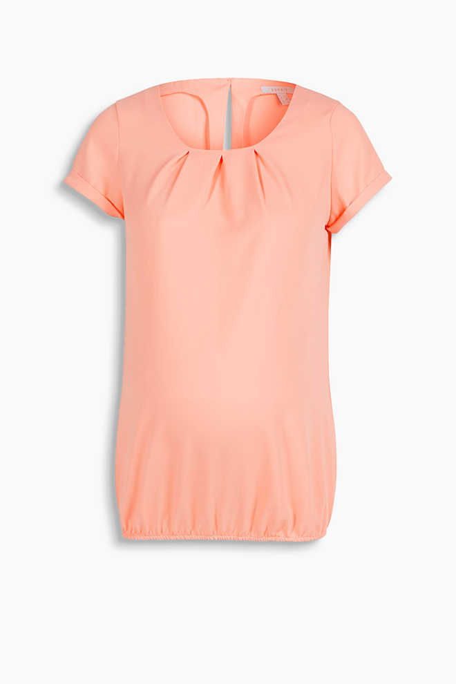 Esprit / Floaty crêpe blouse with great details