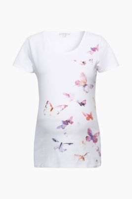 Print-Shirt aus Baumwolle/Stretch