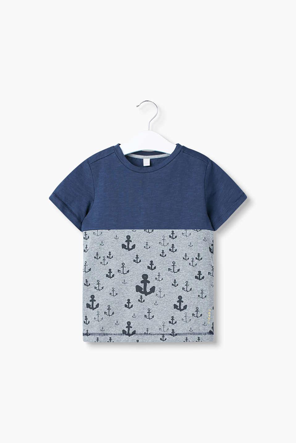 esprit colourblock t shirt mit anker print im online. Black Bedroom Furniture Sets. Home Design Ideas